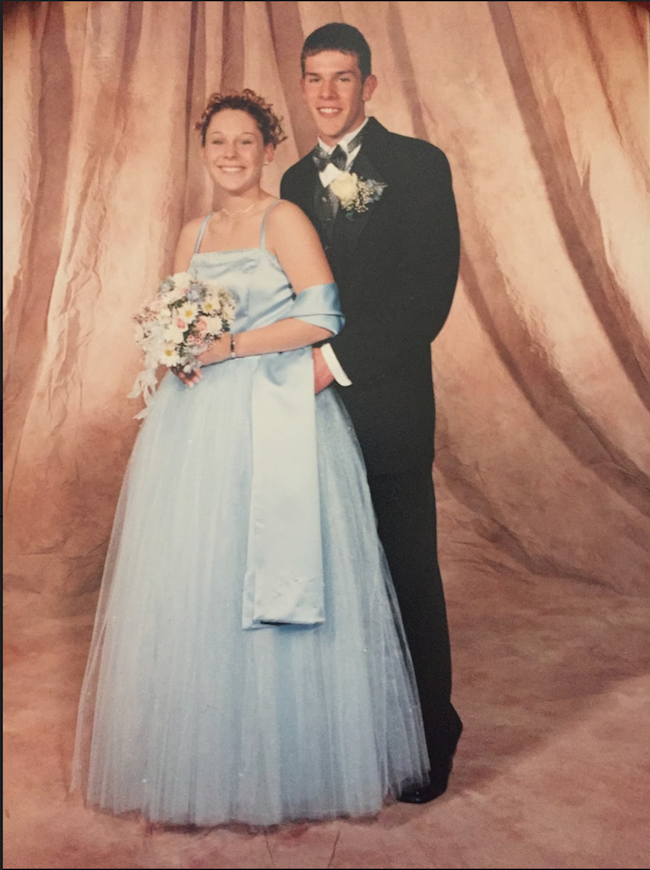 Social Studies teacher Pamela Porter at her junior prom at Hudson High School.
