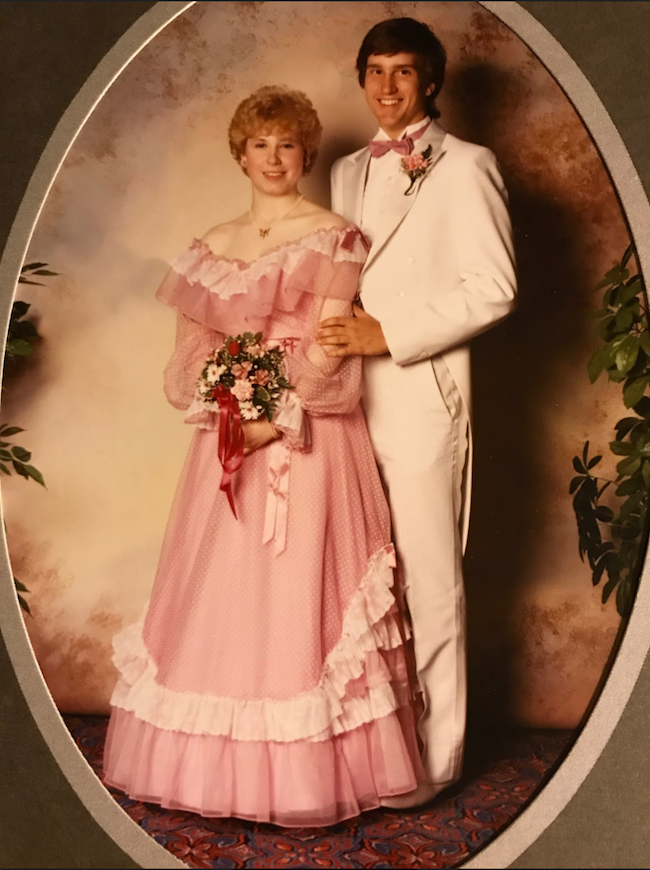 Media teacher Lynda Chilton at her prom at Burncoat High School, Worcester, MA.