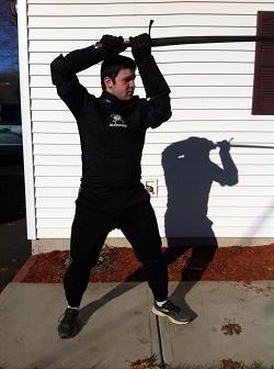 Senior finds success in sport blending bookwork with sword